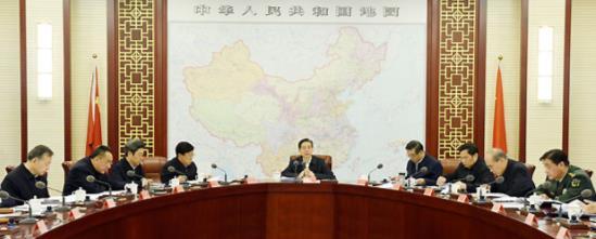 郭声琨:坚决维护党中央权威和集中统一领导